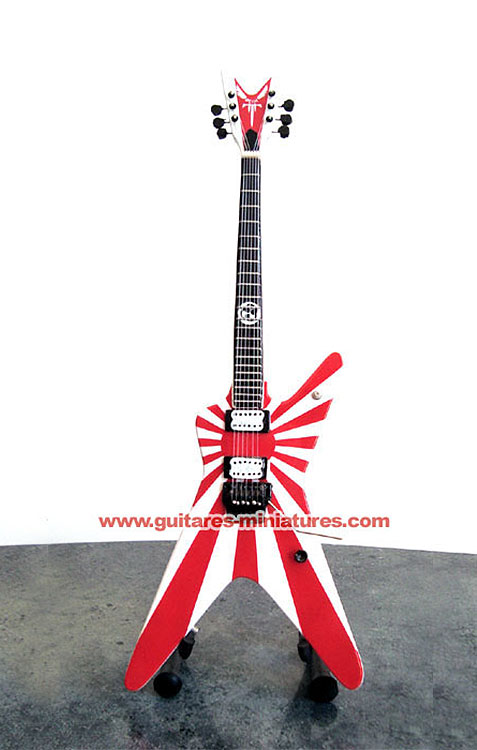 Guitare Miniature Dimebag Darrell Japan Flag