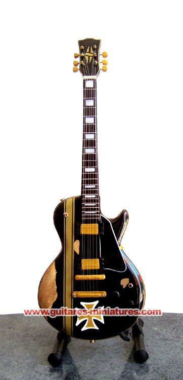 Guitare Miniature James Hetfield Maltese Cross Style Les Paul