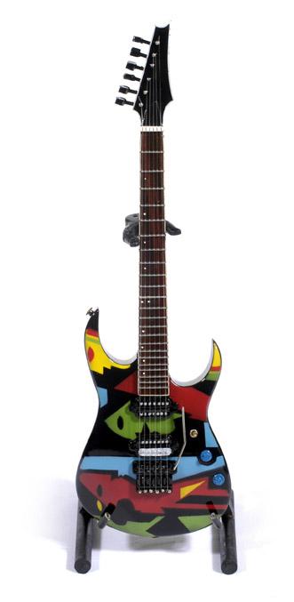 "Guitare Miniature John Petrucci ""Cubist"" Picasso Designed"