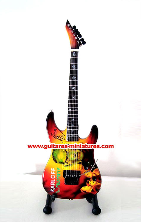 Guitare Miniature Kirk Hammett -Metallica- The Mummy