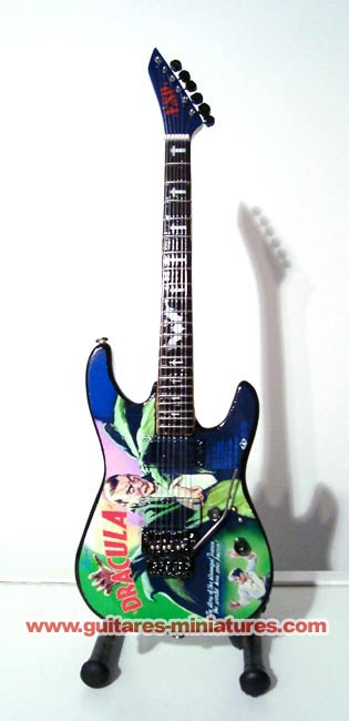 Guitare Miniature Kirk Hammett -Metallica- The Dracula