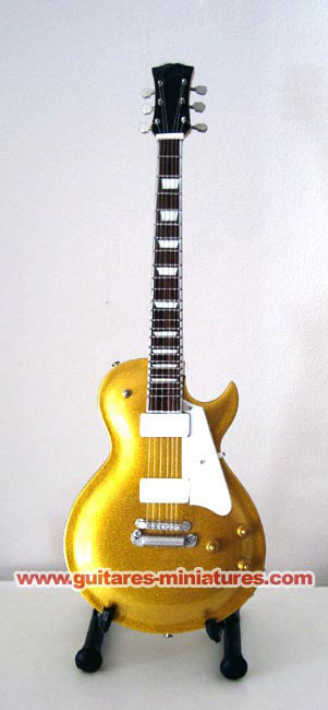 Guitare Miniature Gib Modèle Les Paul GOLD