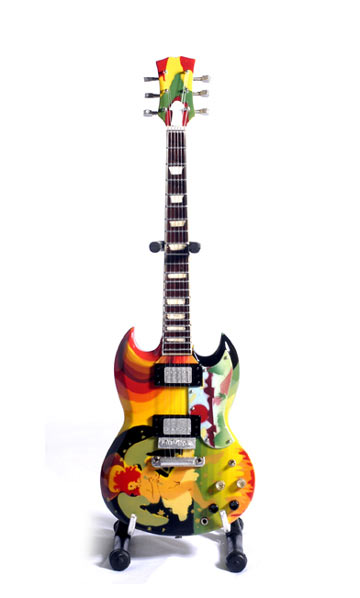 "Guitare Miniature Eric Clapton ""The Fool"""