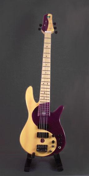 Guitare Basse Miniature Style Victor Wooten Yin & Yang