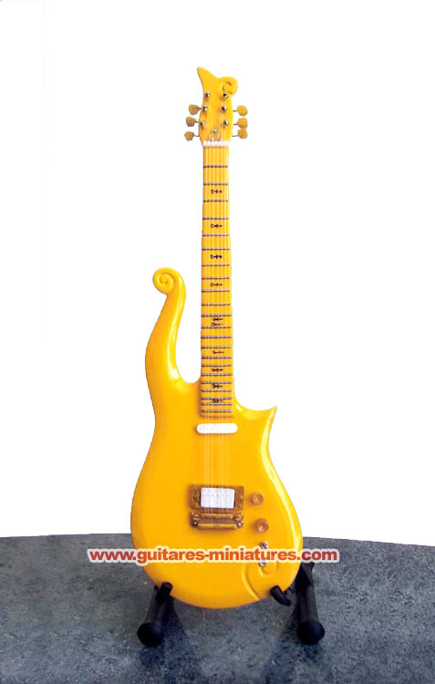 Guitare Miniature Prince Yellow Cloud Guitar