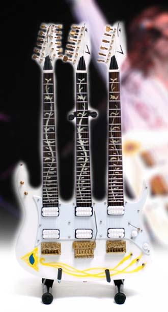 Guitare Miniature Steve Vai JEM Triple Manche