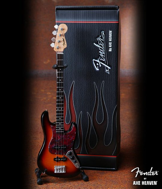 Guitare Basse Miniature - Officially Licensed Sunburst Shell P.G. Fender Jazz Bass