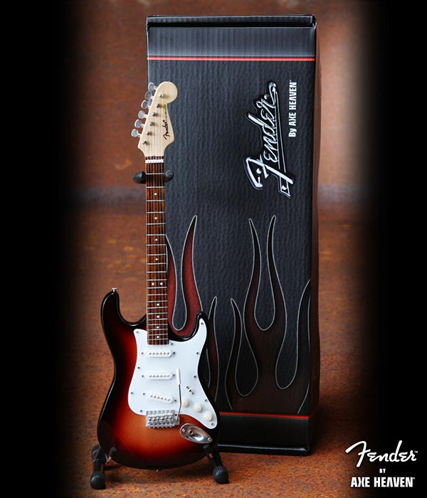 Guitare Miniature - Fender Stratocaster Classic Sunburst Officially Licensed