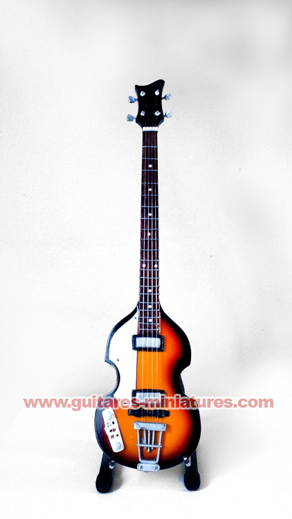 Guitare Basse Miniature - The Beatles - Paul McCartney
