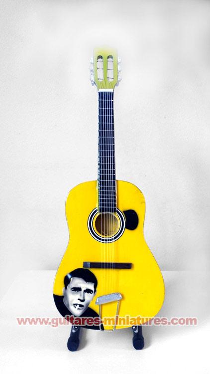 """Guitare Miniature Style Classique """"Jacques Brel"""""""