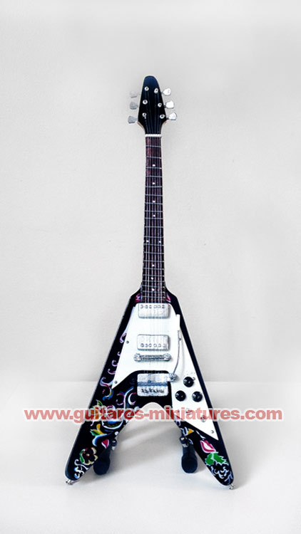 Guitare Miniature Jimi Hendrix - Psychedelic Flying V
