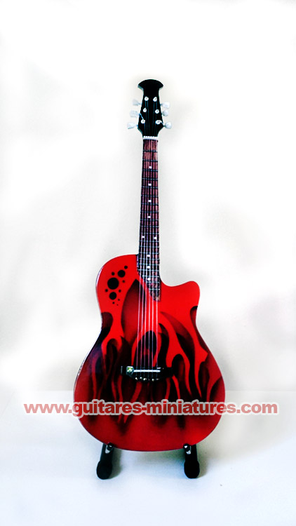 Guitare Miniature style M?tley Cr?e - Nikki Sixx - Red
